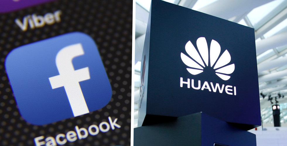 Facebook stoppar förinstallerade appar på Huaweis smartphones