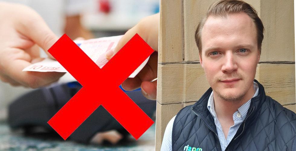 Mash vill skrota kort och kontanter i butikerna – nu satsar utmanaren i Sverige