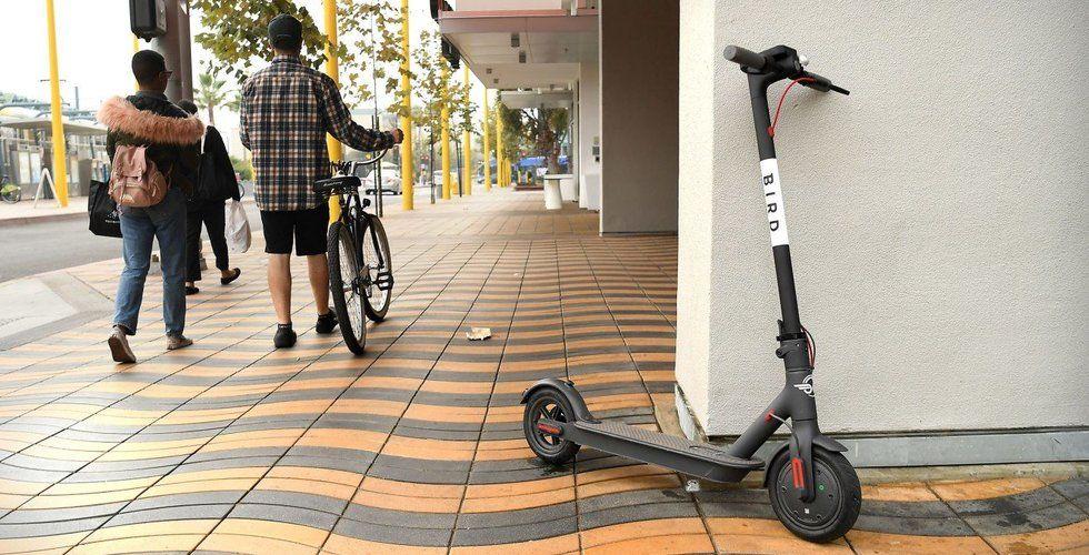 Hajpade el-scootern Bird värderas till 9 miljarder kronor