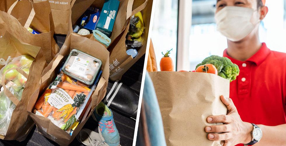 Het månad för mat på nätet – försäljningen rusade
