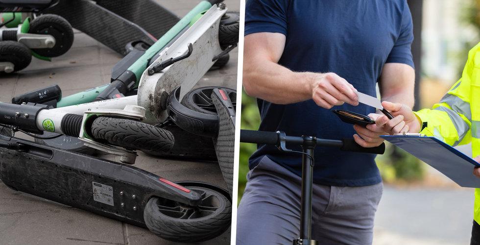 Parkerat din elsparkcykel fel? Nu kan du få böter – av företagen