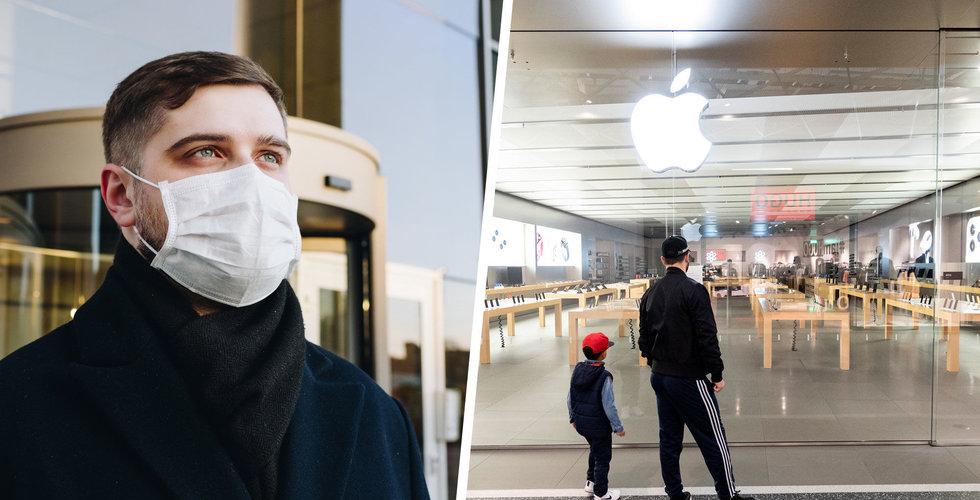 Nu öppnar Apple i Sverige igen – men bara om du är feberfri och har ansiktsmask