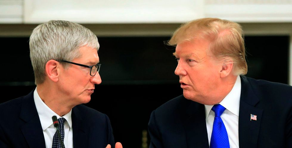 """Video: Här kallar Trump plötsligt Apples vd för """"Tim Apple"""""""
