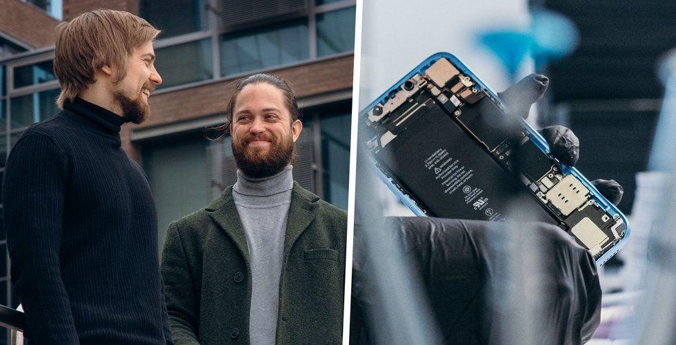 """Swappie köper och säljer begagnade Iphones – får in 375 miljoner: """"Otrolig efterfrågan"""""""