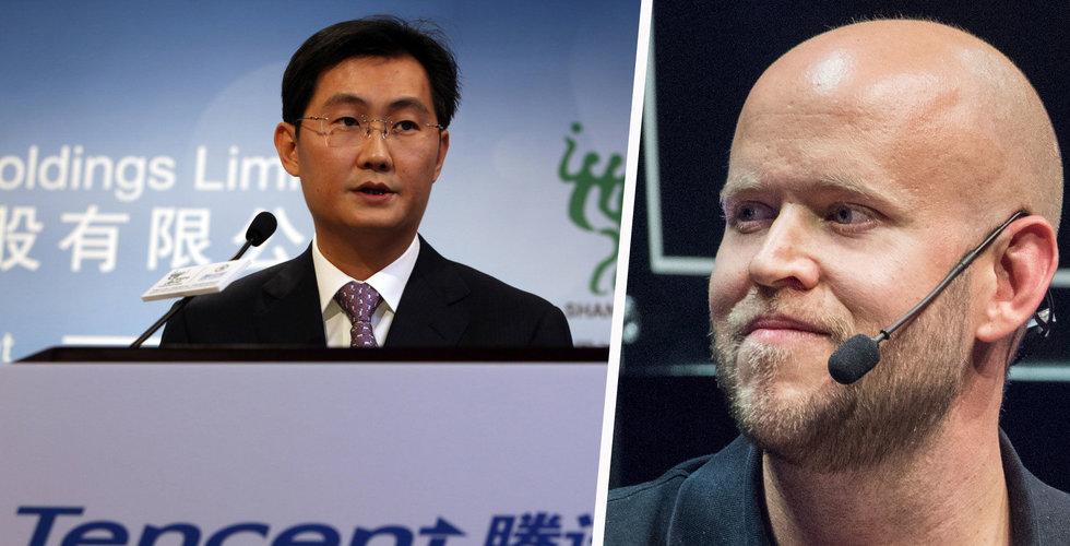 Tencent förvärvar en större post i indisk Spotify-konkurrent