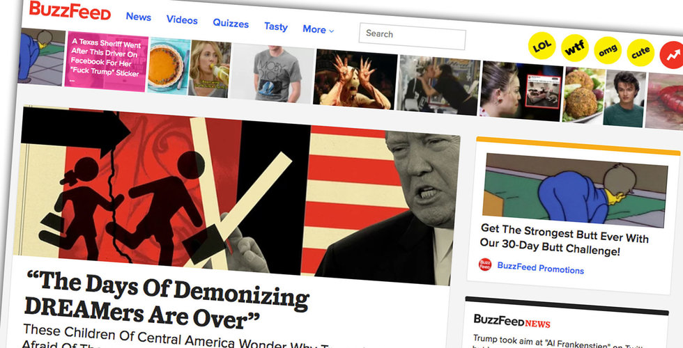 Buzzfeed diskuterar börsnotering via spac-fusion