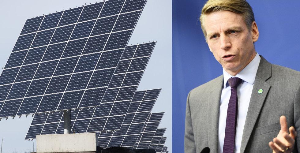 """Regeringen vill utöka satsningen på solceller – """"Klimatet kan inte vänta"""""""