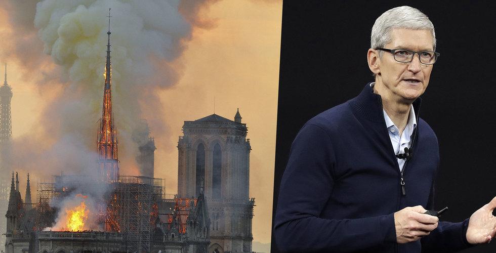 Apple och Disney donerar för att återställa Notre-Dame