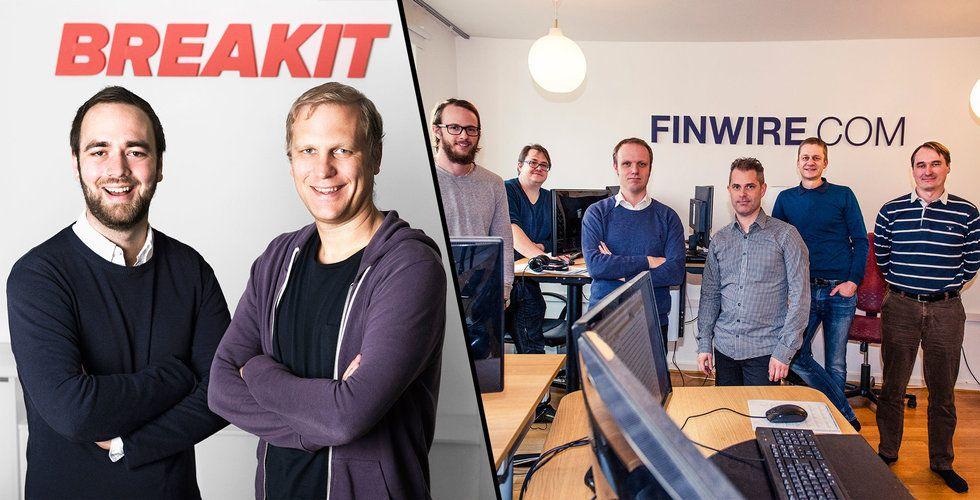 Nu ökar Breakit tempot – skriver avtal med nyhetsbyrån Finwire