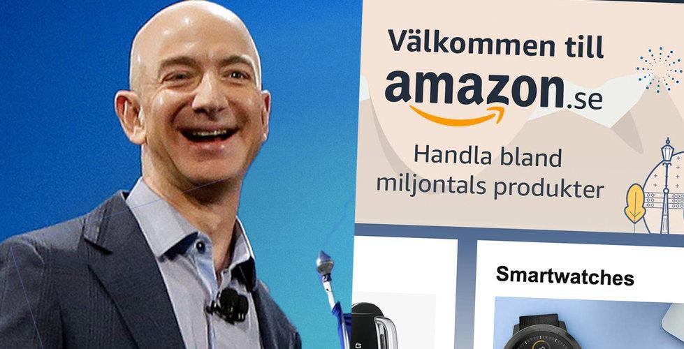 Amazon är här – har lanserat sin sajt i Sverige