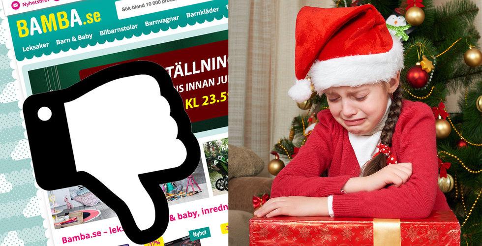 Jultomten kommer inte i år – Bamba missar julleveranserna