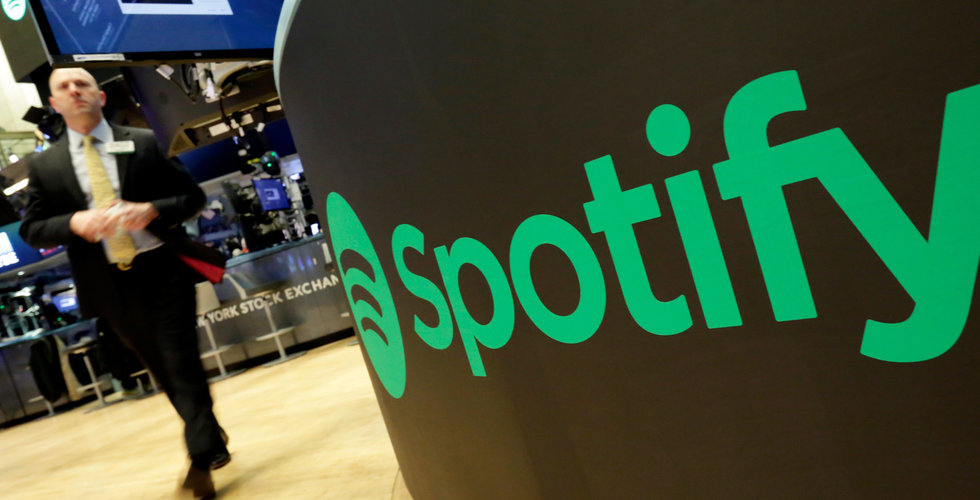 Spotify-aktien fortsätter att stiga på börsen