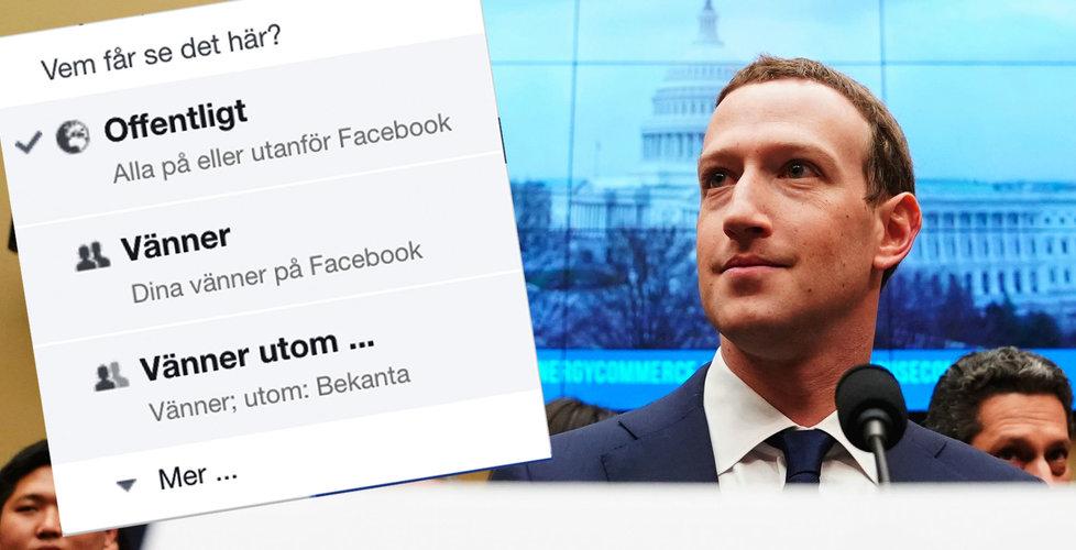 Facebook-bugg gjorde miljontals användares inlägg offentliga
