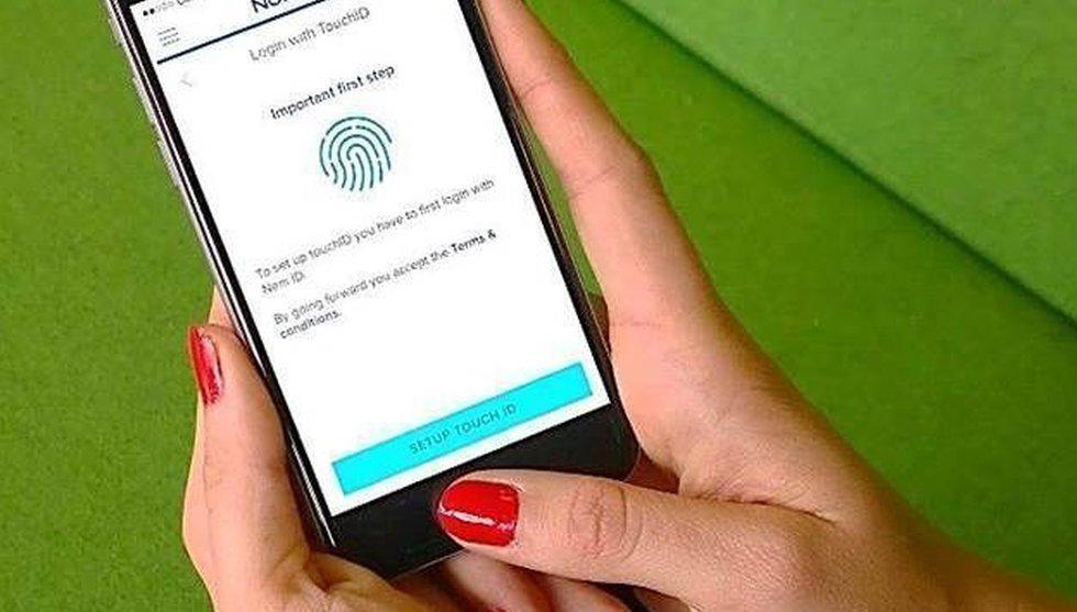 Nordeas nya satsning: Logga in i mobilbanken med bara ett finger
