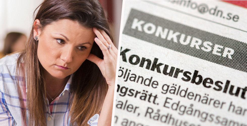 Konkurserna i Sverige steg 30 procent i december