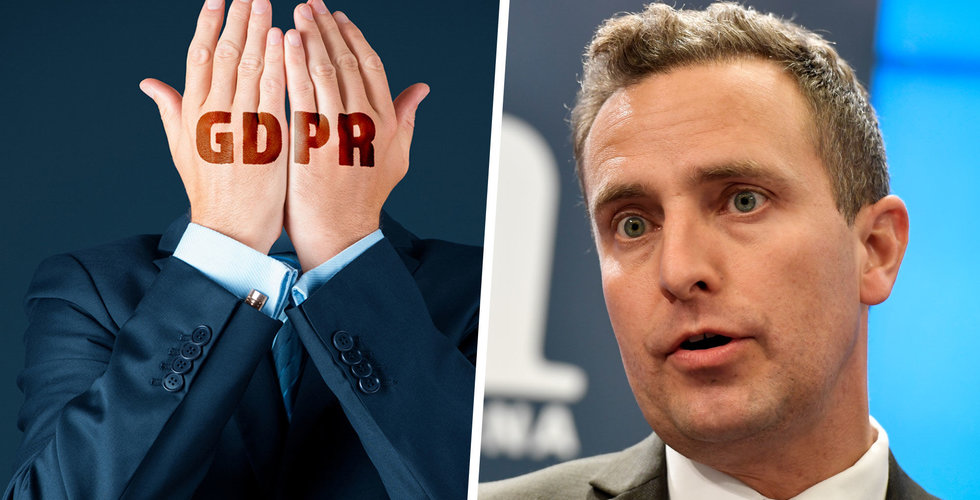 """Moderaterna vill riva upp GDPR-reglerna: """"Väldigt stora kostnader"""""""