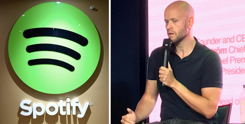 Efter miljardförsäljningen – Spotify faller på New York-börsen
