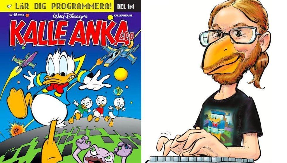 Kalle Anka ska lära barn att koda – med hjälp av Minecraft-svensk