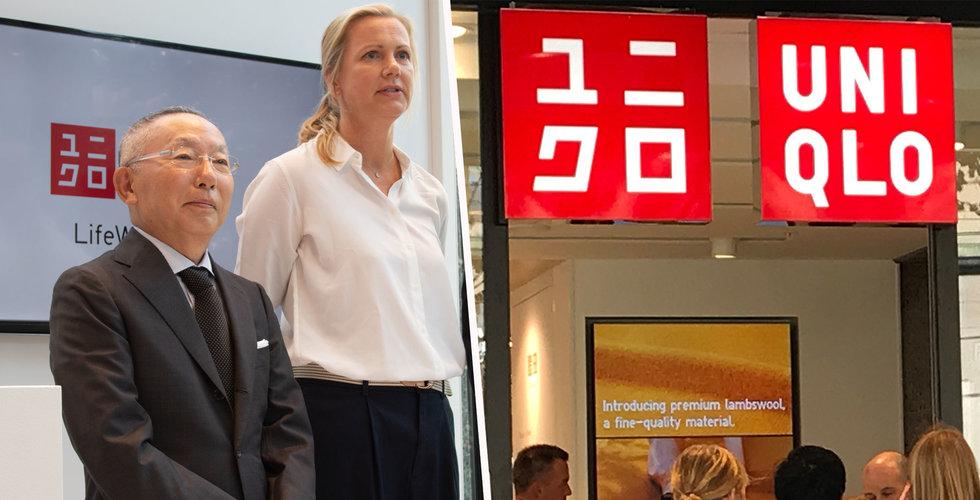 Långa köer när Uniqlo öppnade sin första butik i Stockholm