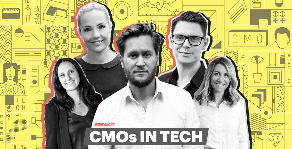 Victoria Appelqvist, Susanne Rönnqvist Ahmadi, Erik Modig, David Sandström och Johanna Fagerstedt, föreläsare på CMOs in tech