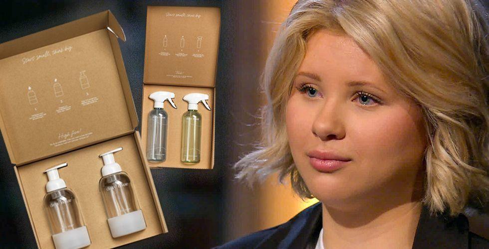 Entreprenören Isabella Sääf i SVT:s Draknästet. Foto: SVT