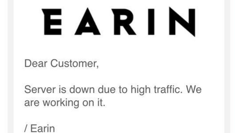 Breakit - Sajten kraschade direkt när svenska Earin öppnade butiken