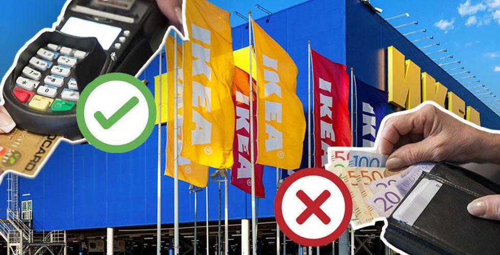 Ikea testar kontantfritt varuhus – första blir i Gävle