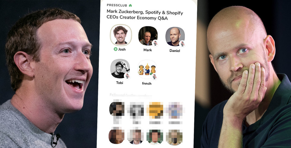 Daniel Ek och Zuckerberg möttes på Clubhouse i natt (här är vad som hände)