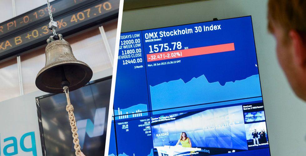 Bred nedgång i Stockholm – tung start på handeln