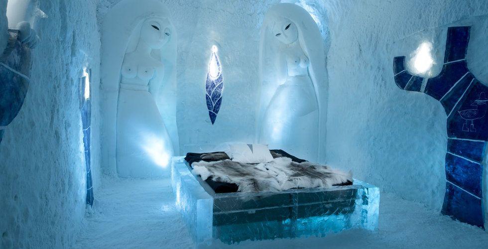 Ishotellet där gästerna sover i fem minusgrader – oavsett årstid