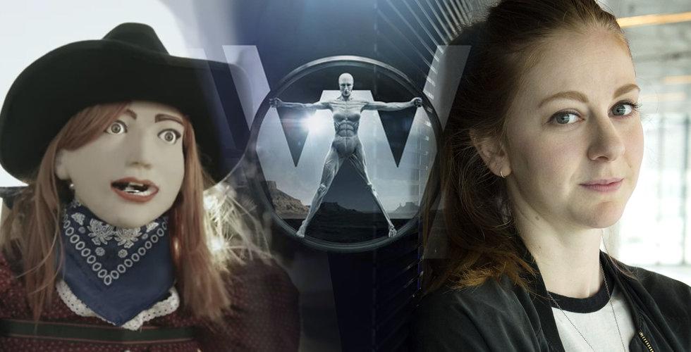 """Simone Giertz gör """"Shitty robot"""" till HBO:s Westworld"""
