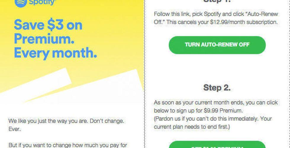 Spotifys uppmaning till lyssnarna – undvik registrering via Apple