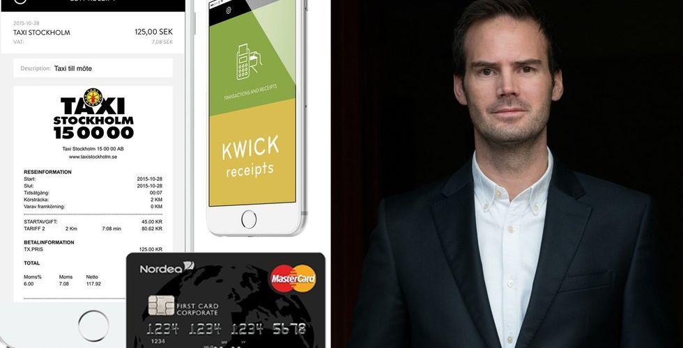 Finansprofiler pumpar in kapital i app som vill döda papperskvittot