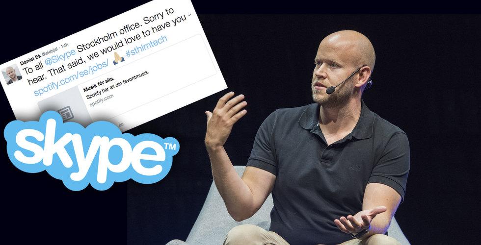 Efter skrotningsbeskedet – nu är Daniel Ek på jakt efter Skypes personal