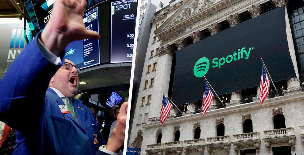 Börsfrossa i New York i natt – Spotify en av de stora förlorarna