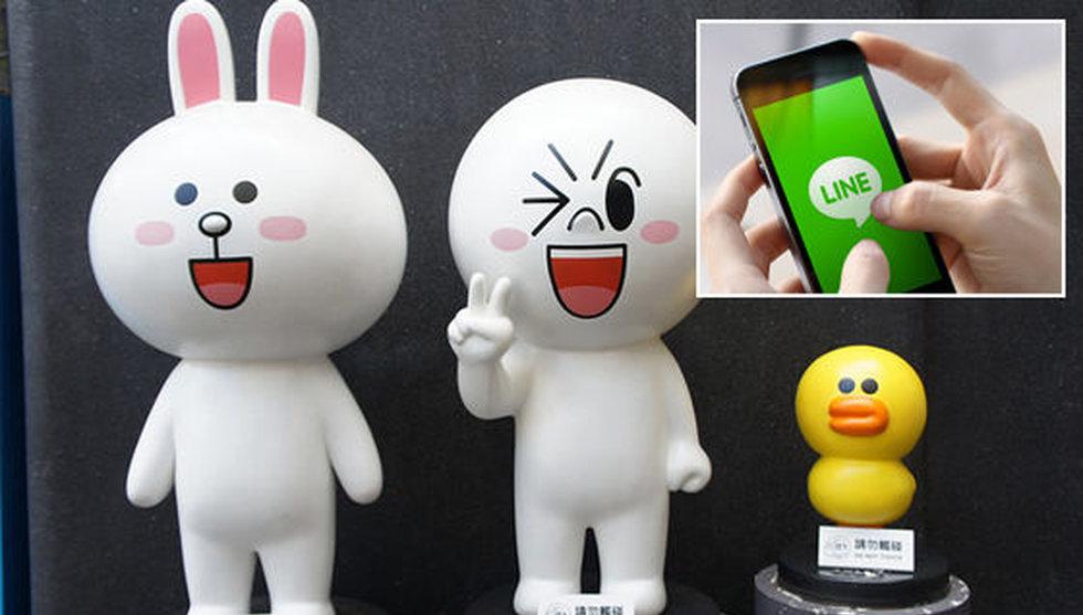 Japanska meddelandeappen Line kan bli årets största technotering