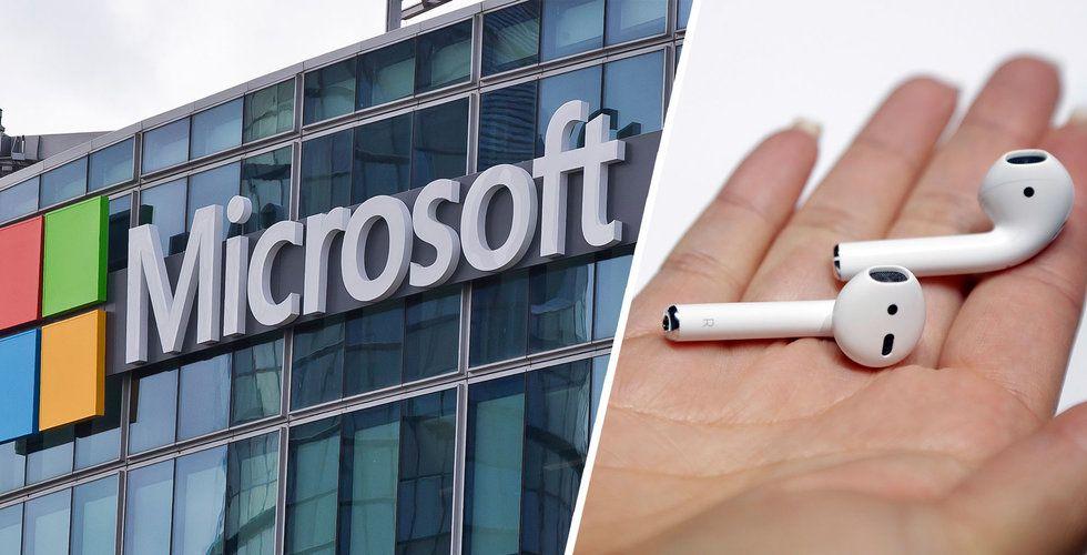 Microsoft skall ge ut egna hörlurar som påminner om Airpods