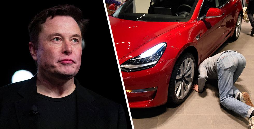 Elon Musks huvudvärk i krisen – köparna vet inte hur de använder sin Tesla