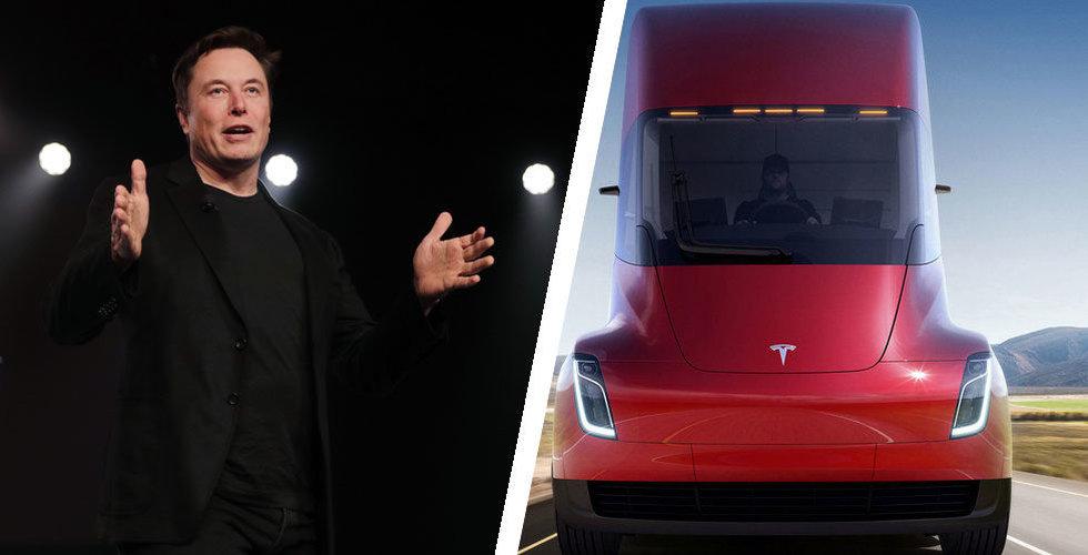 Tesla Semi-produktionen på väg att inledas