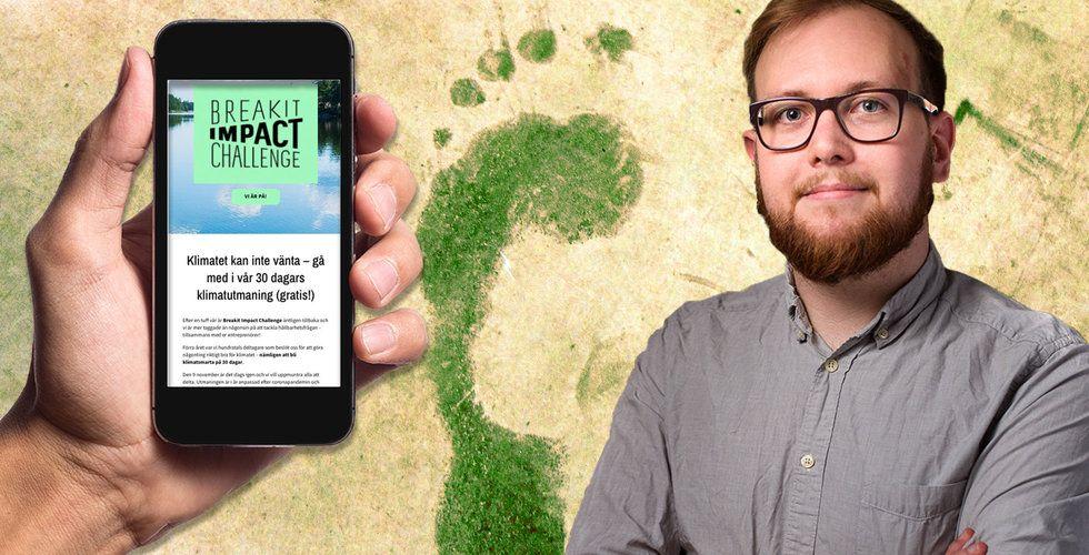 Kan jag bli klimatneutral med hjälp av tech? Nu ska jag testa allt
