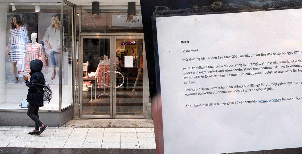 """Ingen vill köpa konkursade Joy: """"Med krisen dog den sista möjligheten"""""""