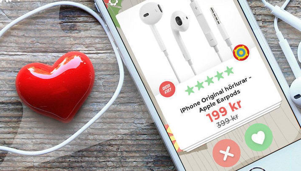 Breakit - Stark start för Fyndiqs Tinder-liknande shoppingapp