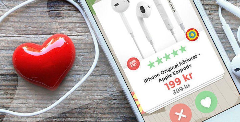 Stark start för Fyndiqs Tinder-liknande shoppingapp