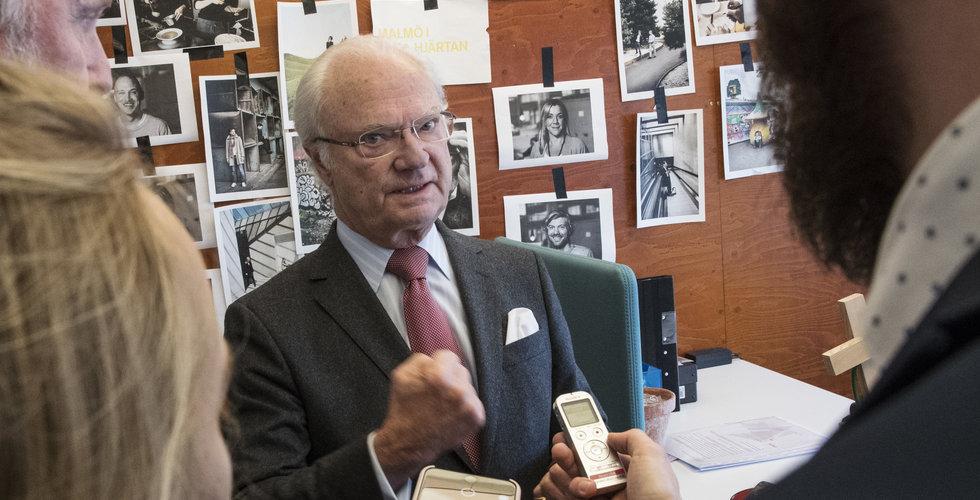 """Kungen på startup-safari i Malmö: """"Det är ju mest knappar"""""""