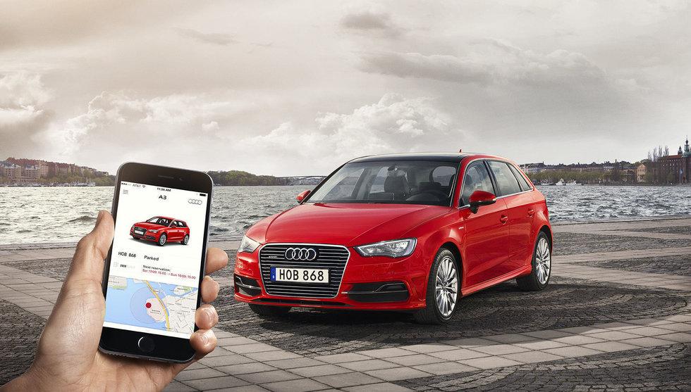 Världspremiär – Stockholm först när Audi lanserade sin nya tjänst