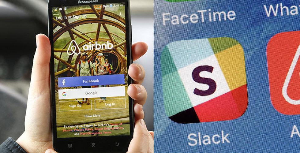 Airbnb och Slack kan komma att kopiera Spotifys notering