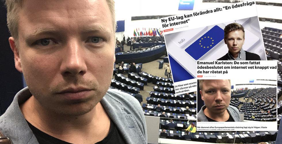 Emanuel Karlsten crowdfundar reportageresa till EU-parlamentet