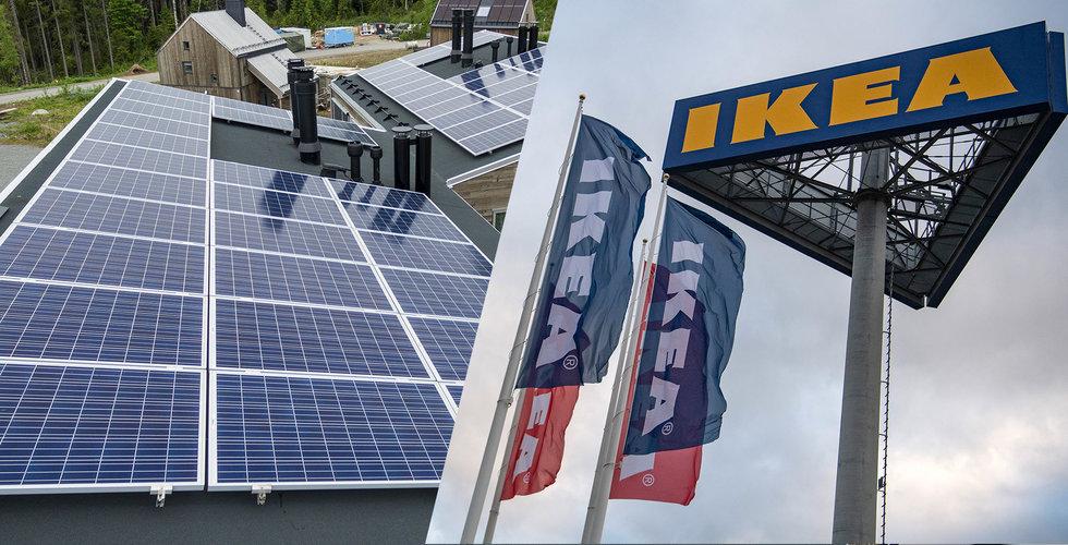 Ikea satsar på solpaneler i Sverige