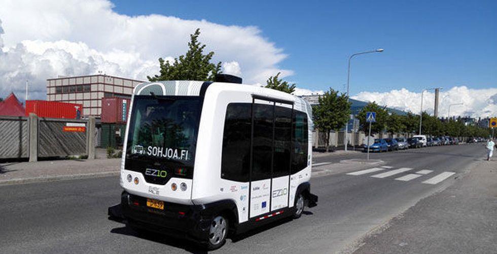 Just nu på vägarna i Finland: Robotbussar med passagerare i