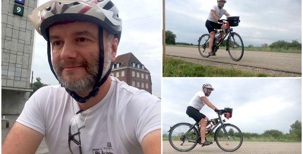 Har fått jobb på Paradox - cyklar från Frankrike till Stockholm